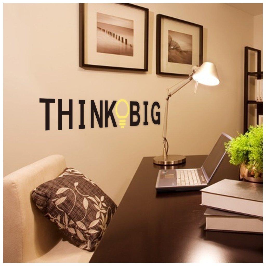 """Autocolant de perete """"Think Big"""" 58x12 cm"""