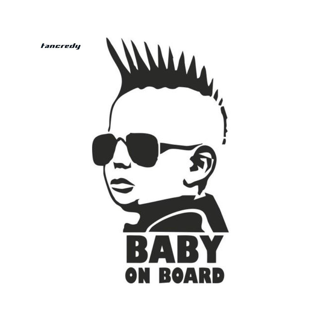 samolepka na auto detska nalepka chlapec rebel baby on board dieta v aute cierna nahlad stylovydomov