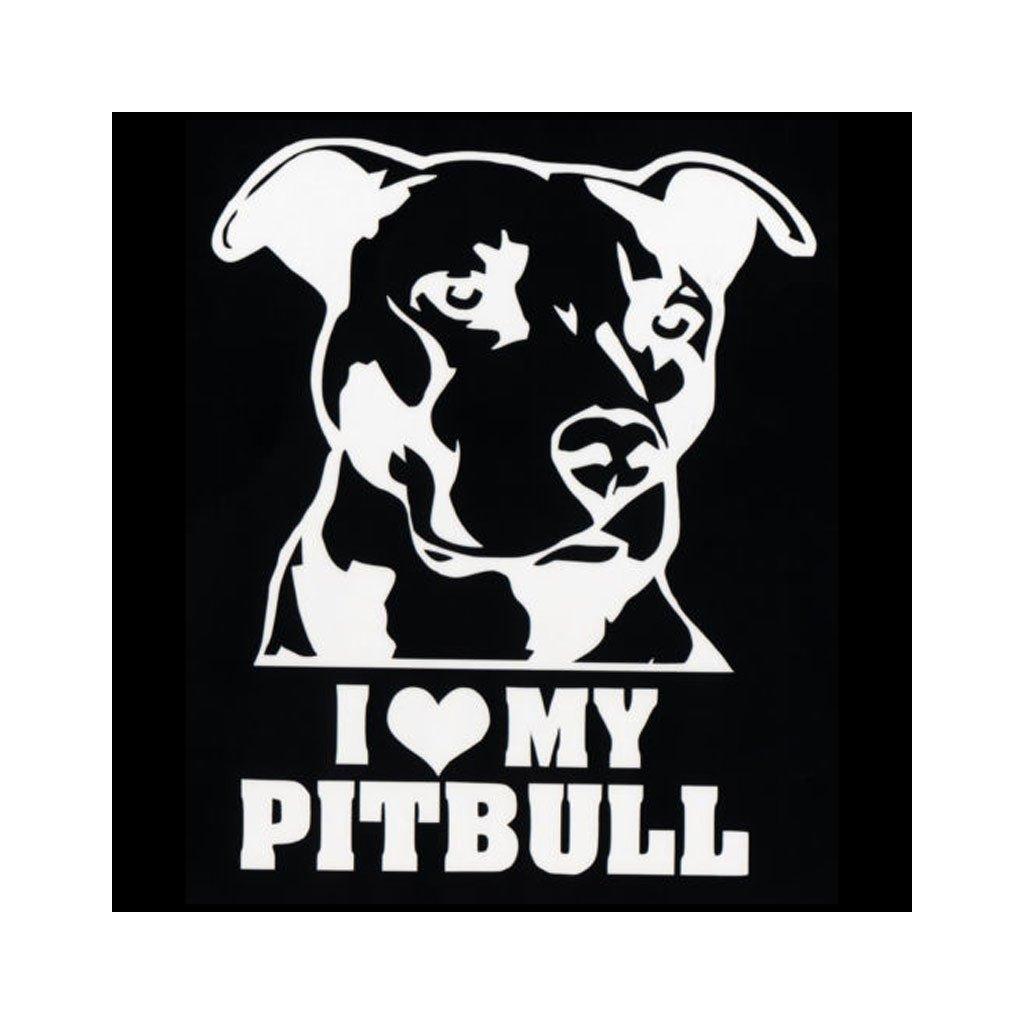 samolepka na auto notebook stenu vypinac dekoracna nalepka pes zviera i love my pitbull biela nahlad stylovydomov