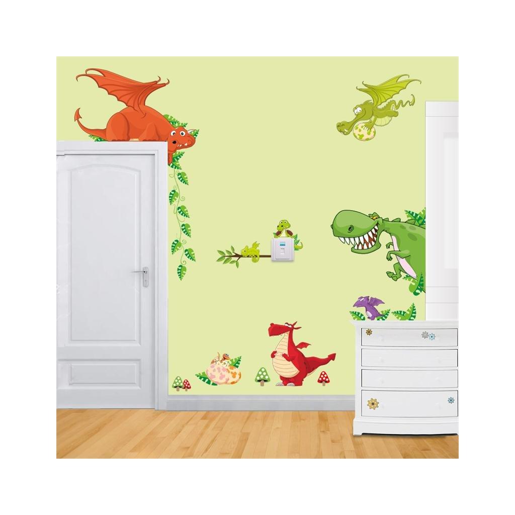 detska samolepka na stenu samolepiaca tapeta dekoracna nalepka pre deti draci nahlad stylovydomov