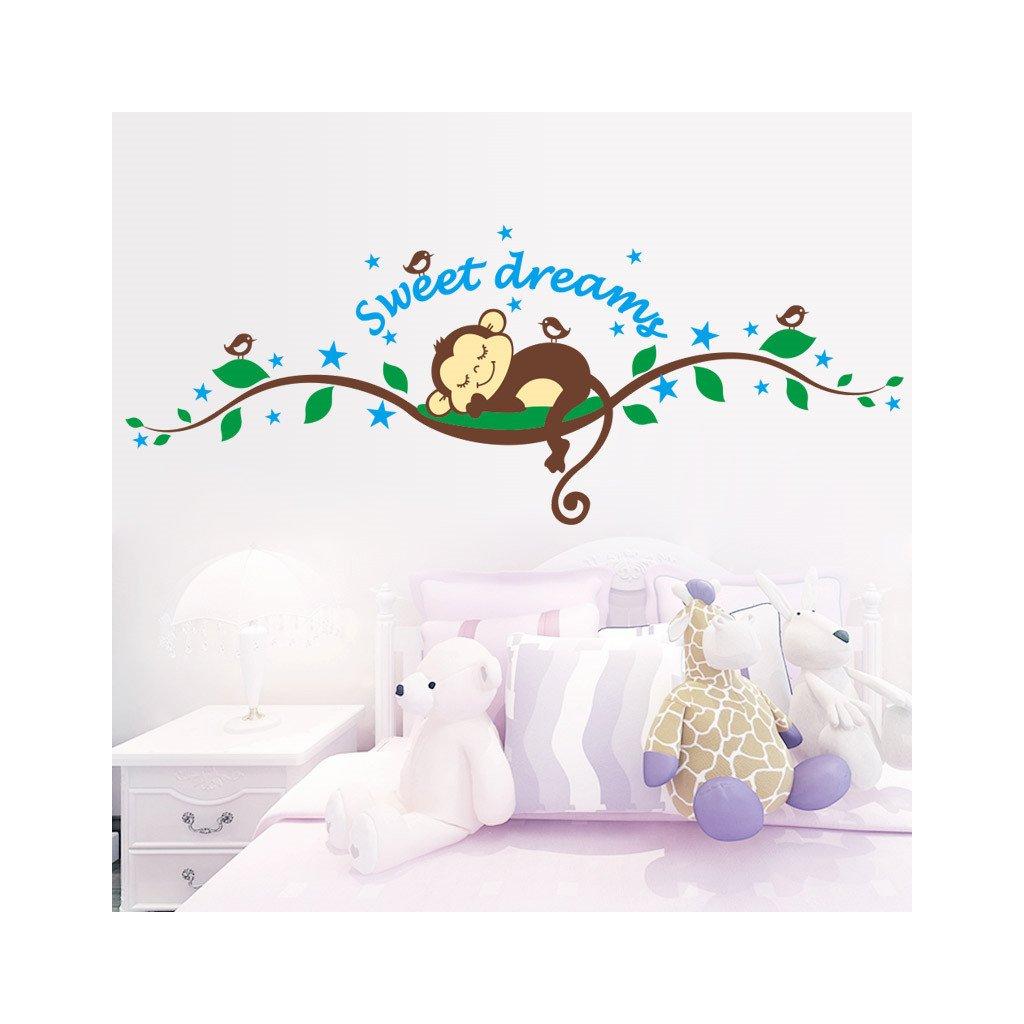 """Autocolant de perete """"Maimuța - Sweet Dreams"""" 120x46 cm"""