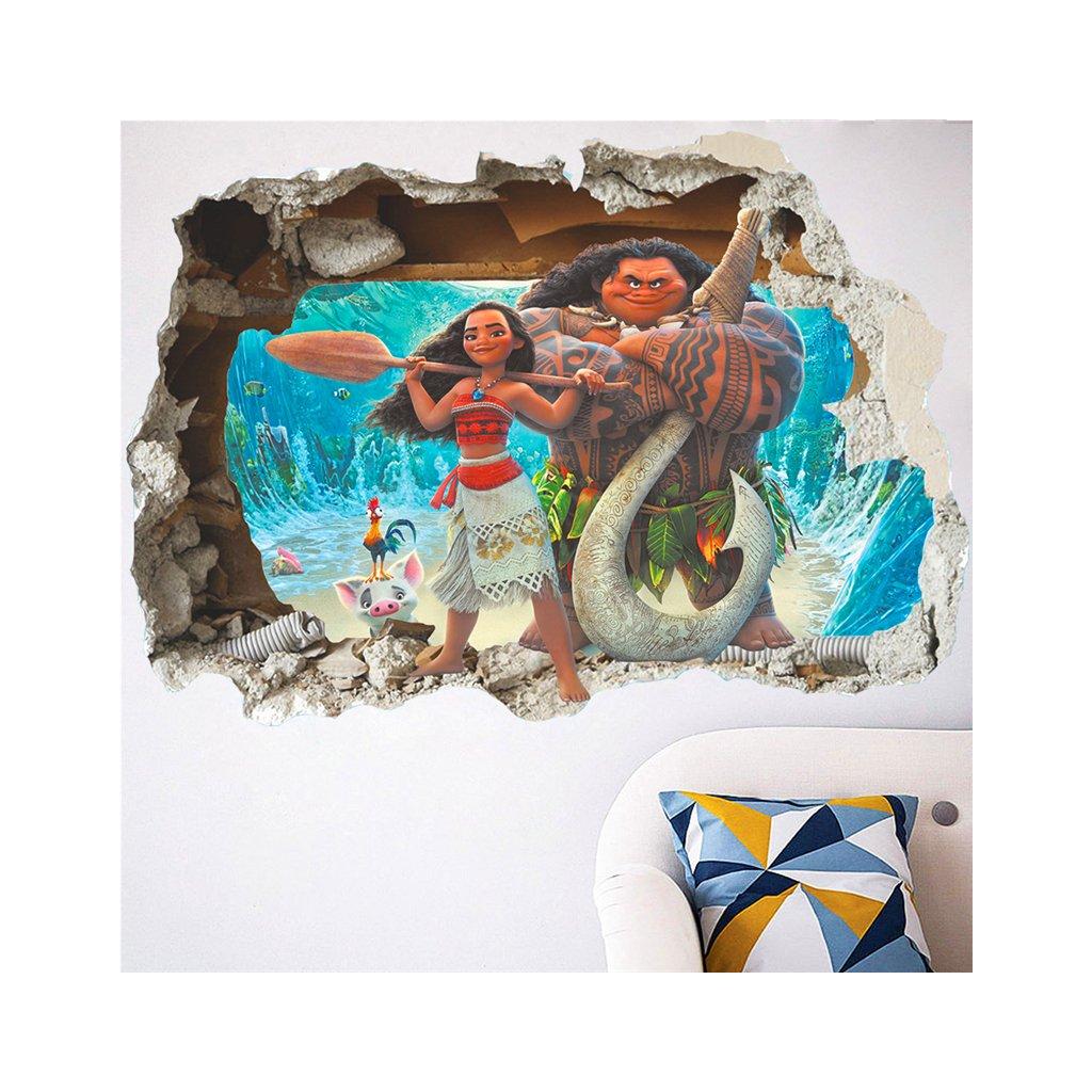detska samolepka na stenu samolepiaca tapeta dekoracna nalepka pre deti moana odvzna vaiana nahlad dekoracia stylovydomov