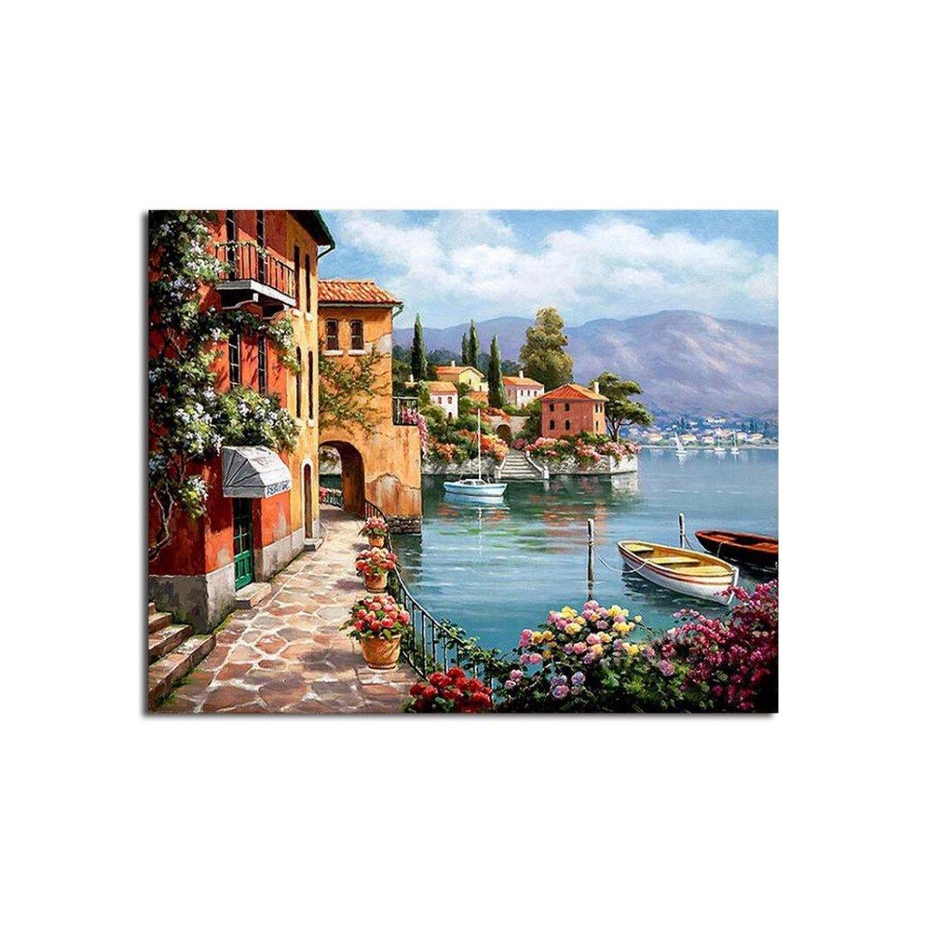 namaluj si obraz domy pri jazere nahlad stylovydomov