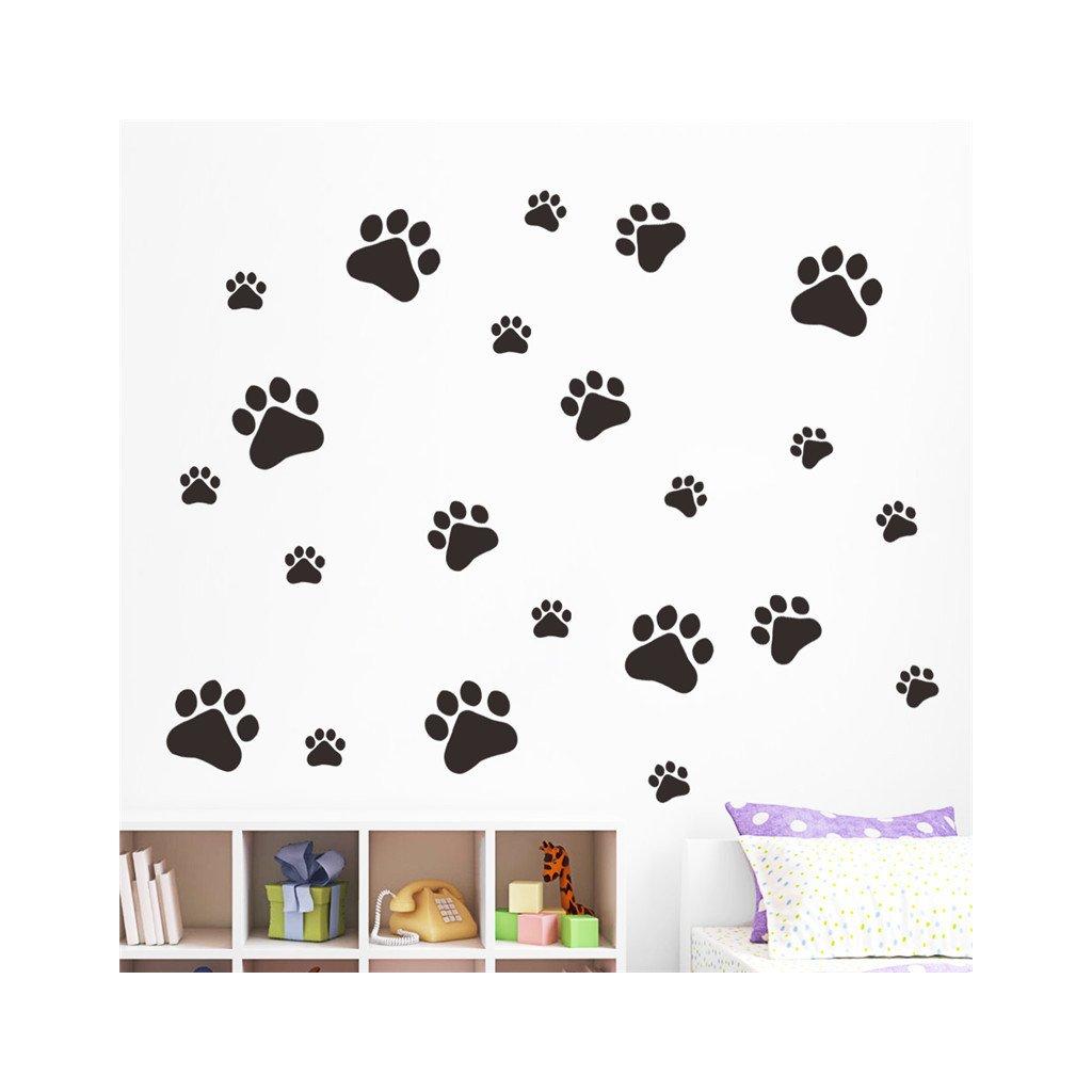 samolepiaca tapeta dekoracna samolepka na stenu vinylova nalepka psie packy interierovy dizajn dekoracia vizualizacia stylovydomov