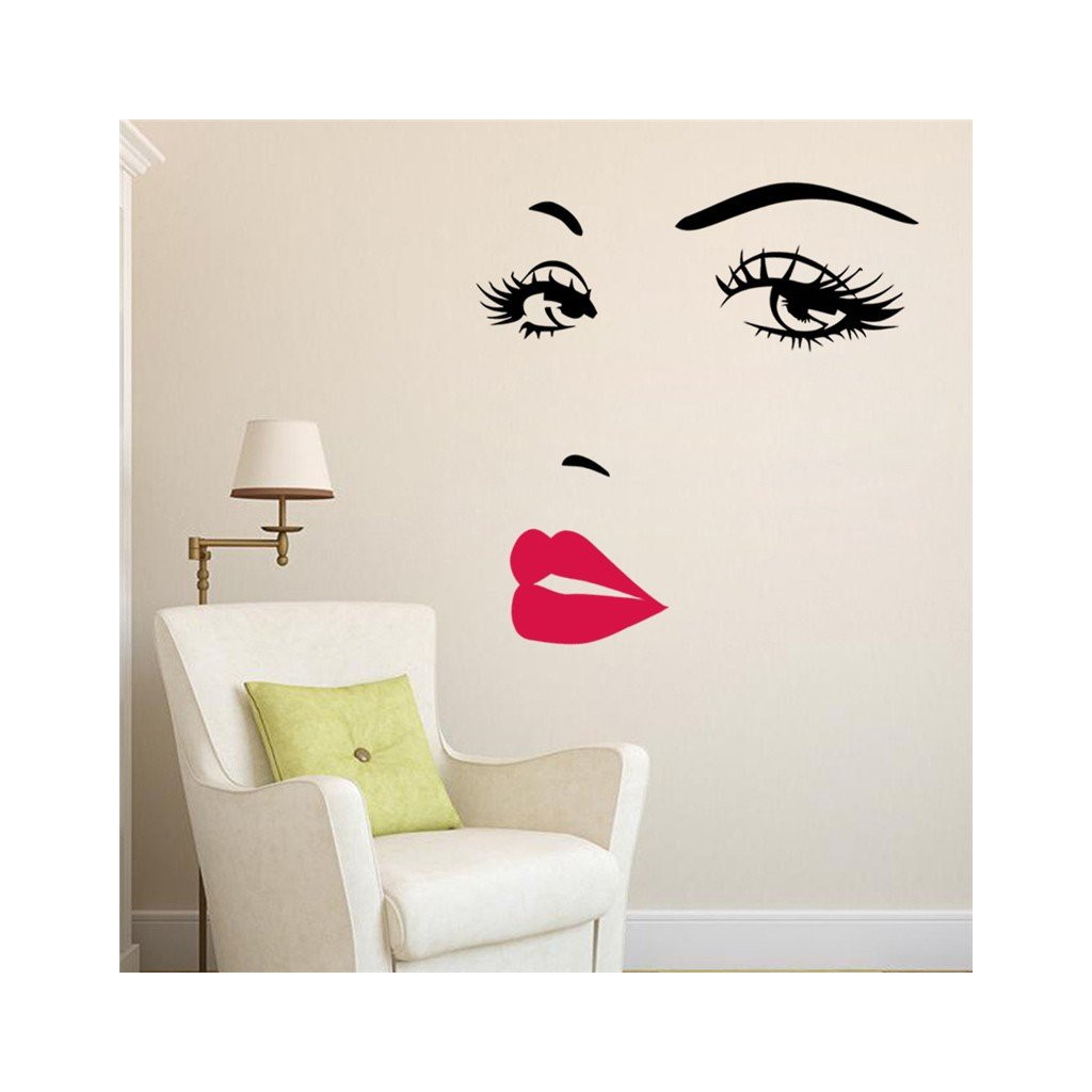 "Autocolant de perete ""Chipul femeii"" 57x70 cm"