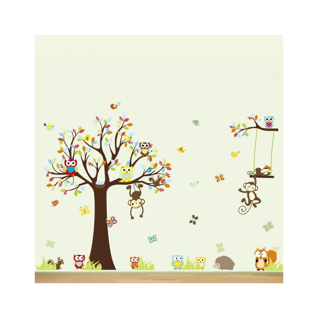 """Autocolant de perete """"Copacul cu bufnițe"""" 234x150 cm"""