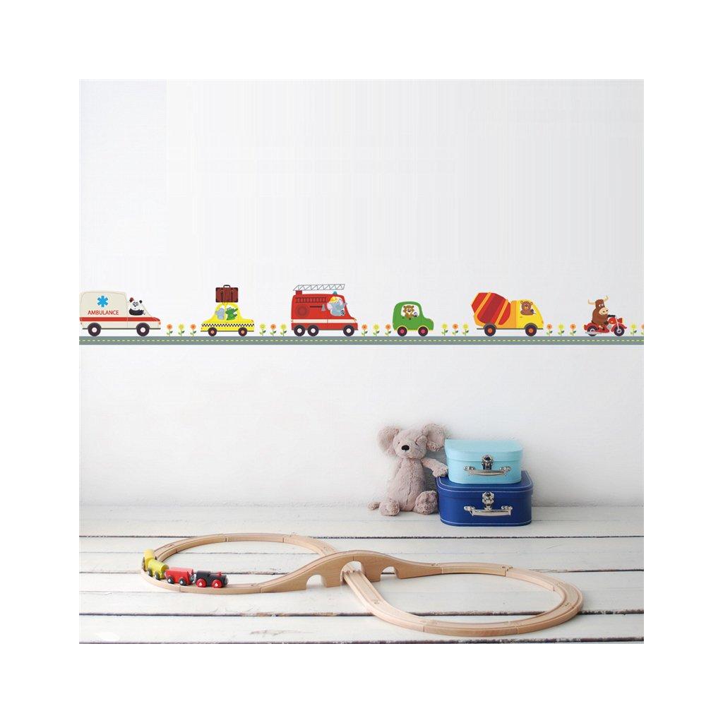 detska samolepka na stenu samolepiaca tapeta dekoracna nalepka pre deti cesta s autickami 3 vizualizacia stylovydomov