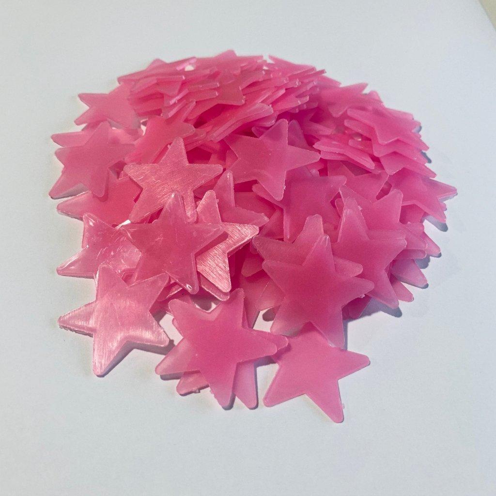 samolepky na stenu pre deti detske plastove hviezdicky ruzove 100 ks dekoracia stylovydomov