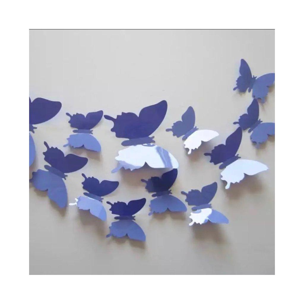 farebne motyle fialove plastove dekoracne motyle samolepka na stenu stylovydomov