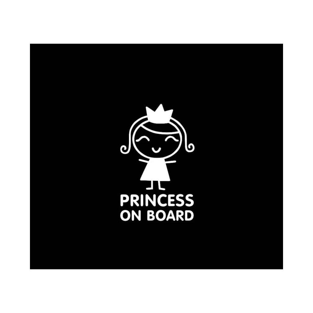samolepka na auto dekoracna nalepka dieta na palube princezna strieborna stylovydomov
