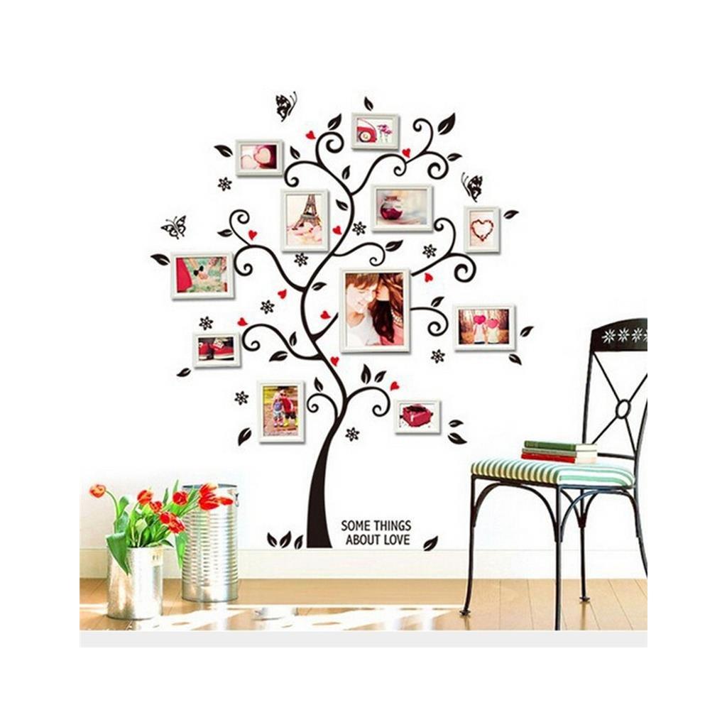 "Autocolant de perete ""Copacul cu fotografii"" 100x120 cm"