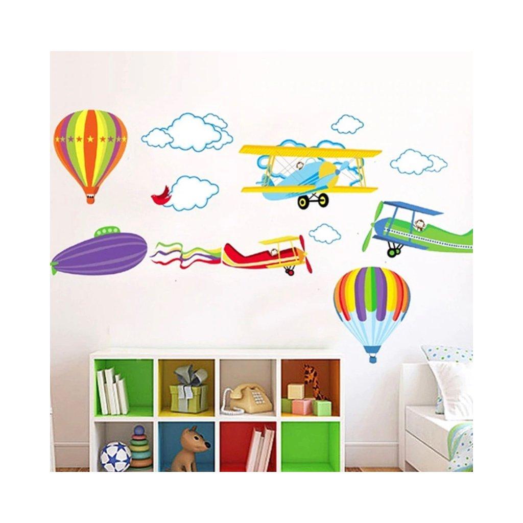 samolepka na stenu pre deti detska nalepka balony lietadla stylovydomov
