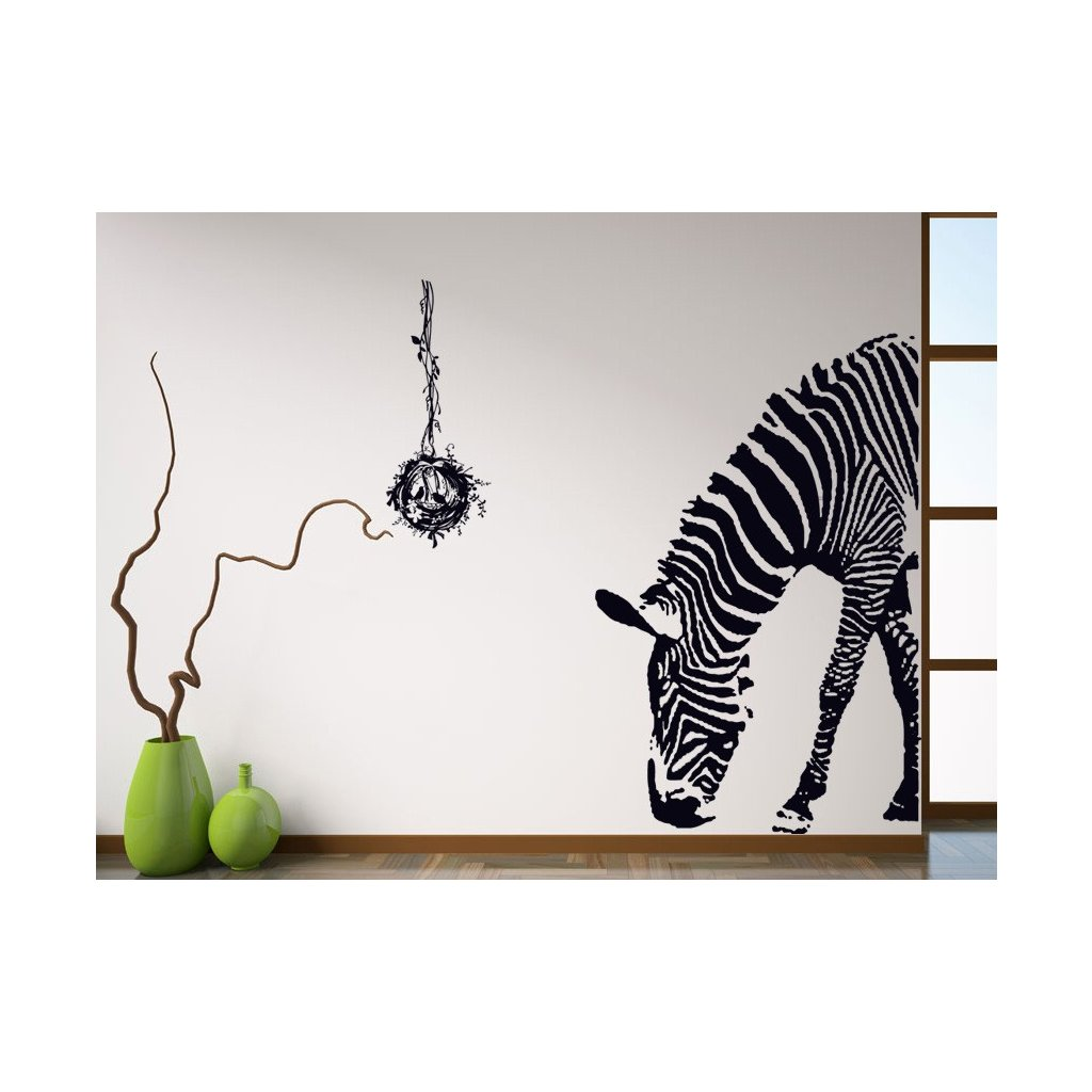 "Autocolant de perete ""Zebră"" 100x95 cm"