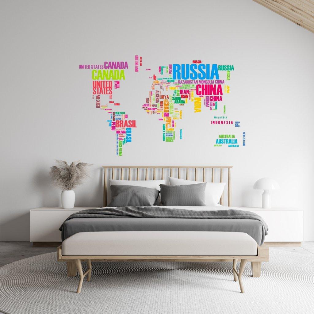Mapa sveta 2 farebná úvod