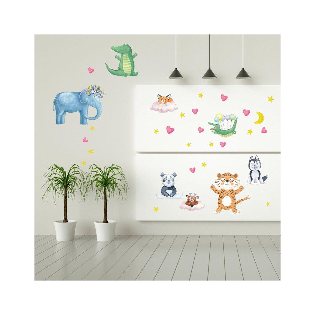 "Autocolant de perete ""Animale exotice"" 60x108 cm"
