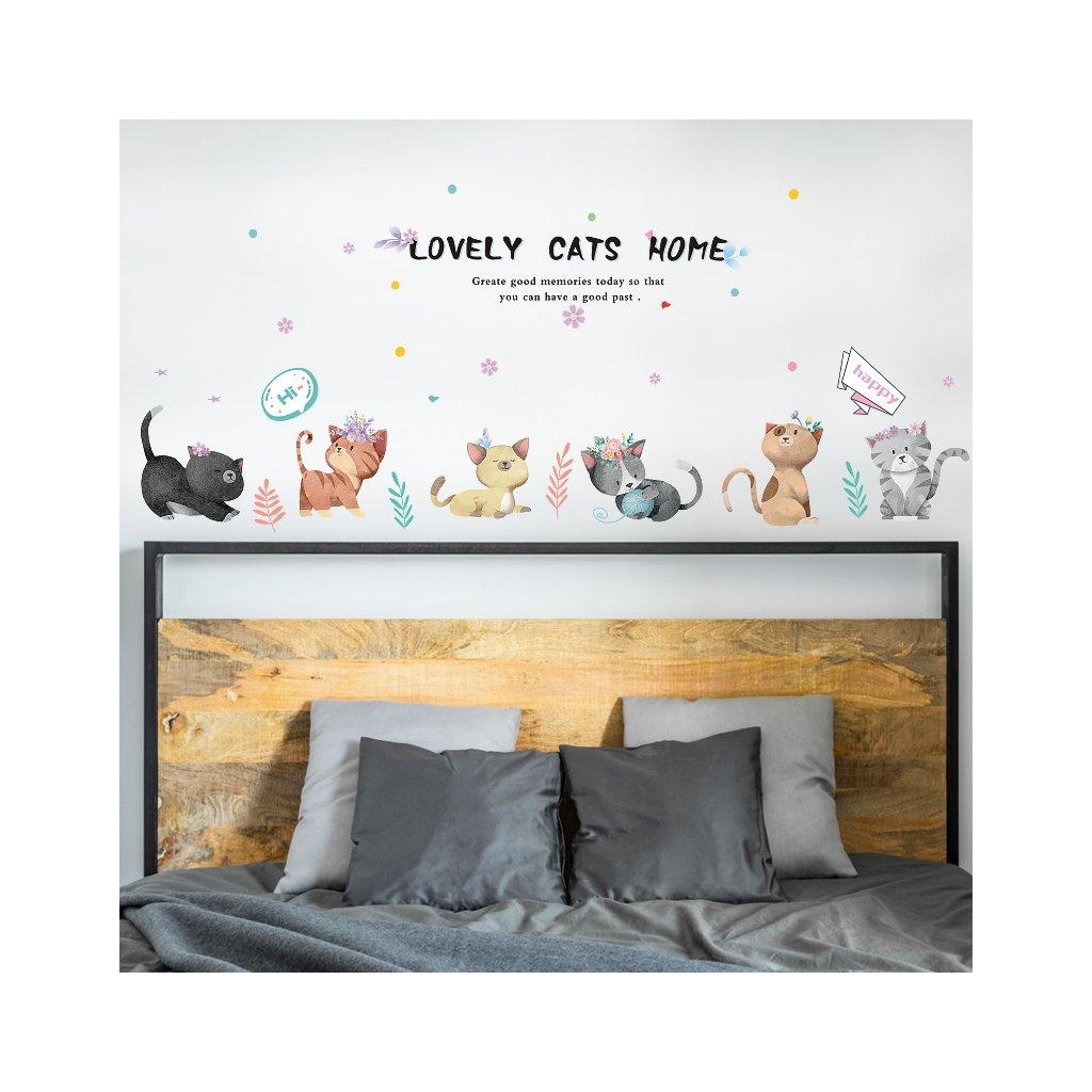 "Autocolant de perete ""Pisici"" 50x135 cm"
