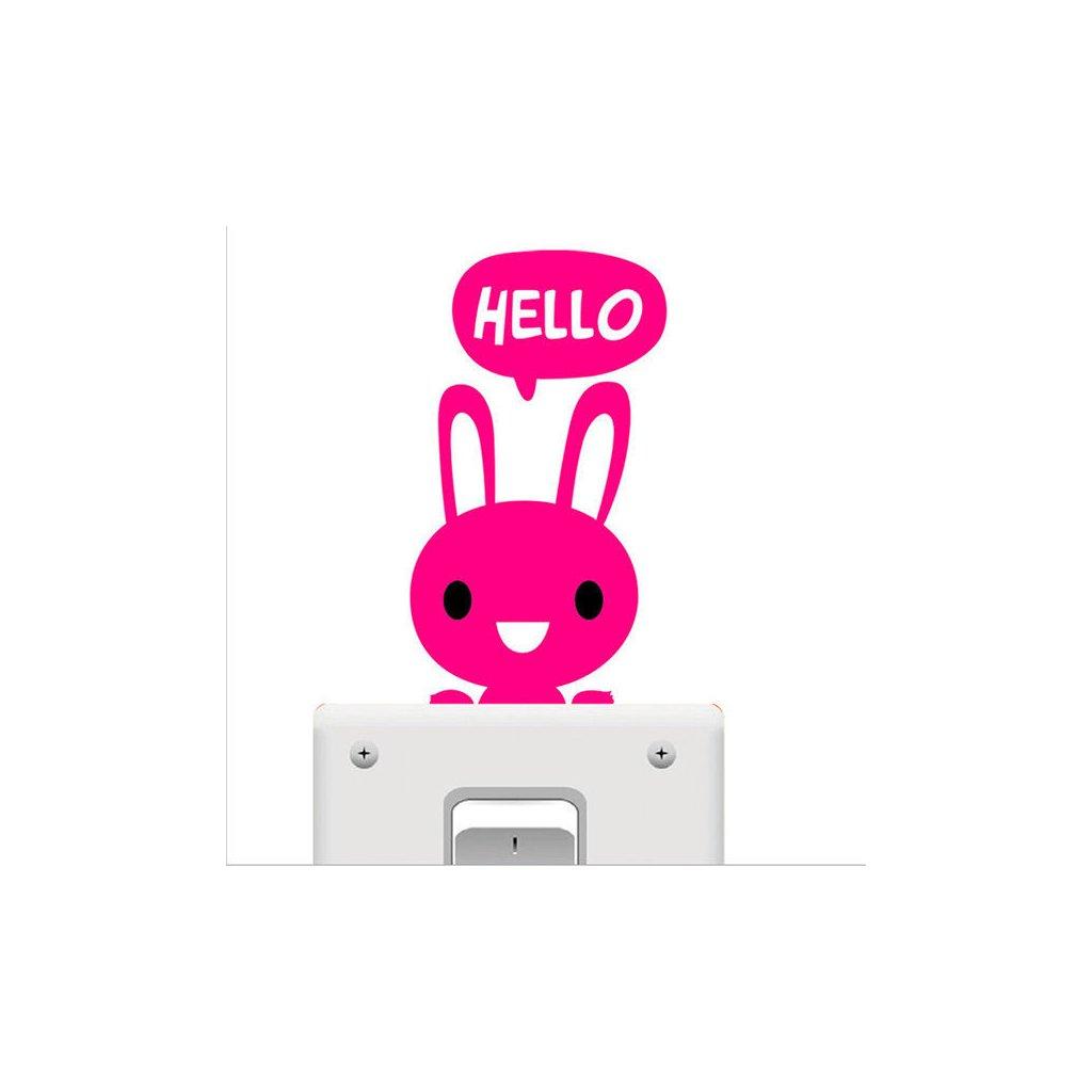 samolepka na vypinac hello zajac pre deti detska nalepka stylovydomov