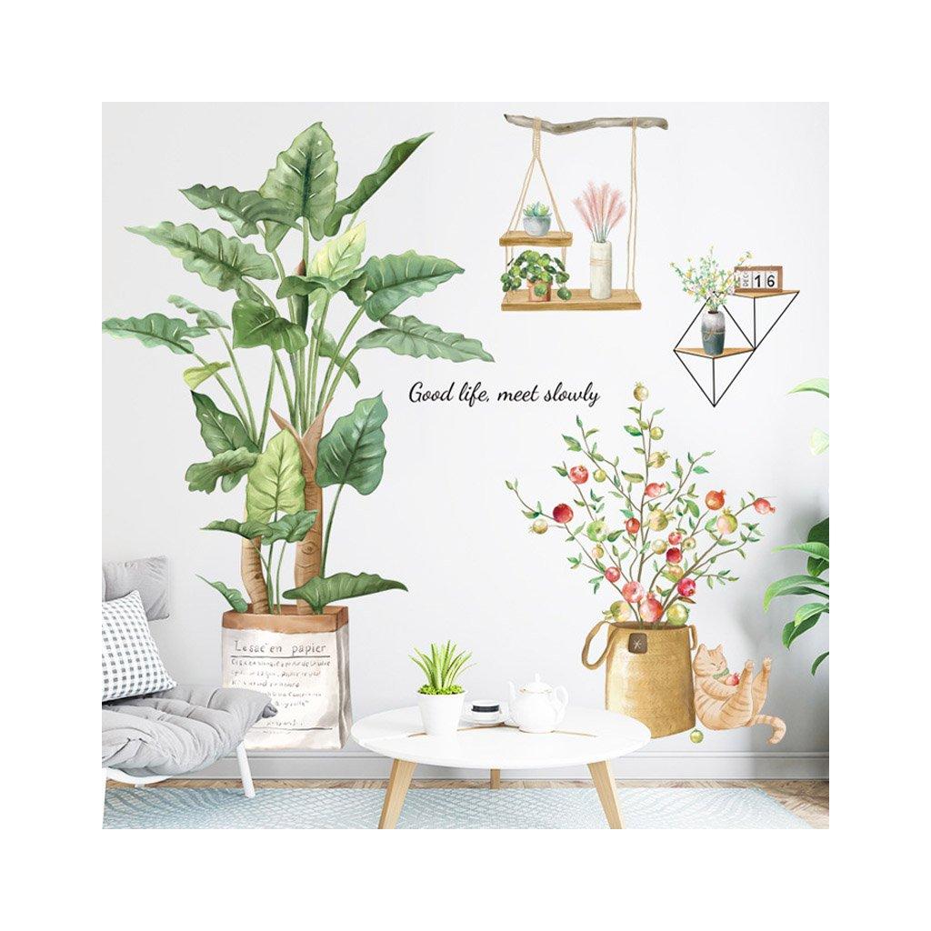"Autocolant de perete ""Plante în ghiveci"" 93x91 cm"