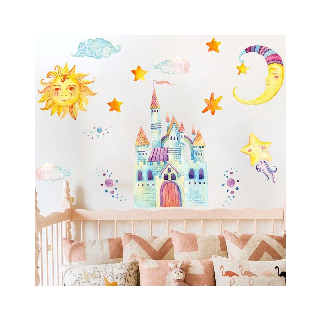 """Autocolant de perete """"Castelul 2"""" 88x78 cm"""