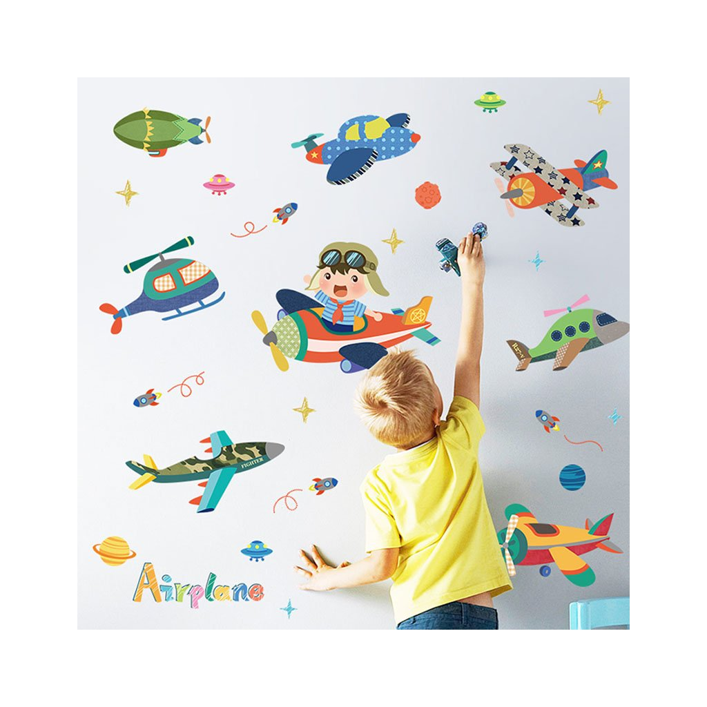 "Autocolant de perete ""Avioane"" 105x134 cm"