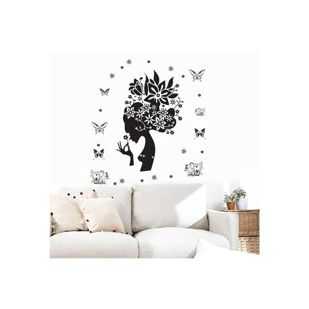 samolepiaca tapeta dekoracna samolepka na stenu nalepka kvetinova zena styl interierovy dizajn dekoracia vizualizacia stylovydomov