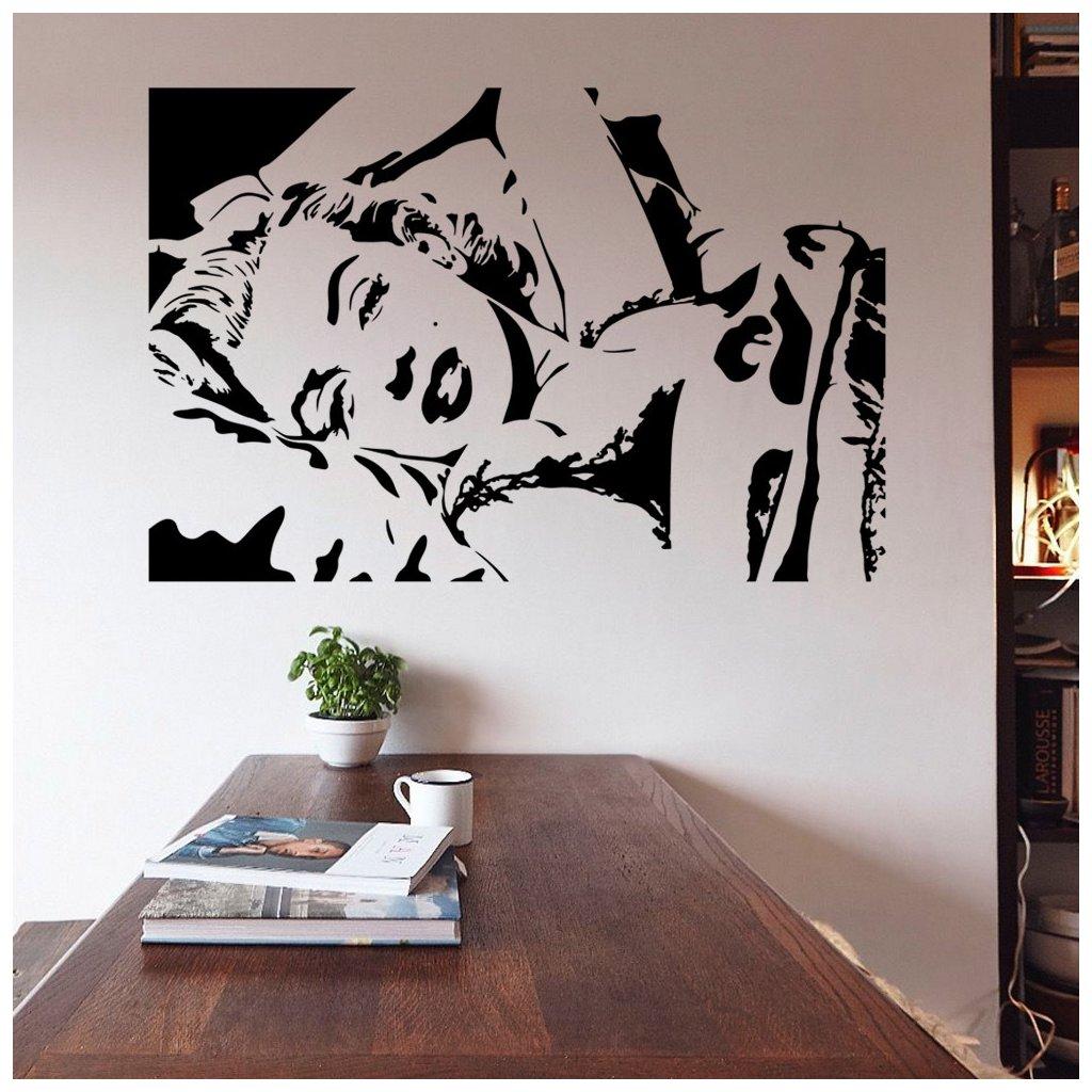 samolepiaca tapeta dekoracna samolepka na stenu nalepka vinyl marilyn monroe styl interierovy dizajn dekoracia nahlad stylovydomov