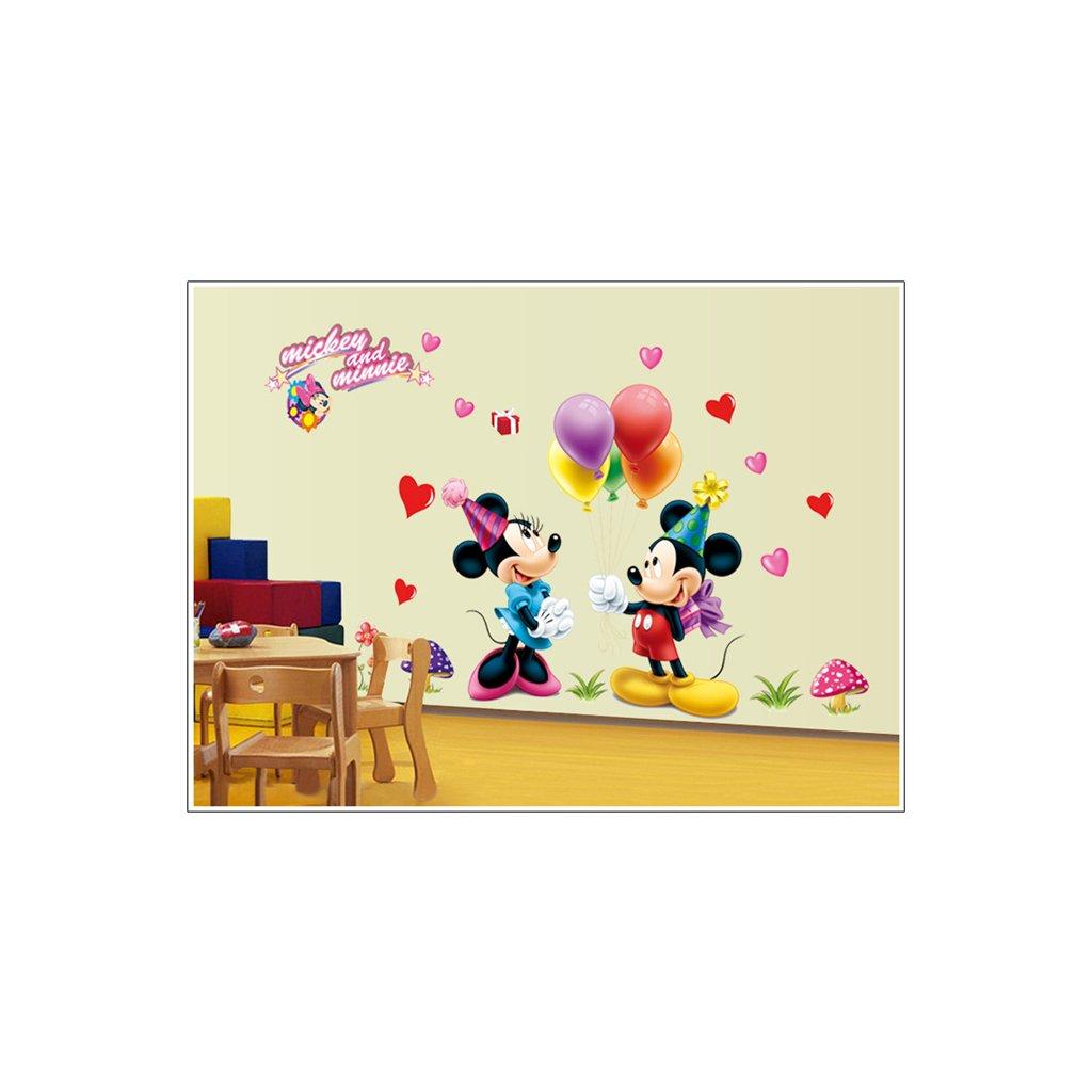 "Autocolant de perete ""Mickey & Minnie"" 130x80 cm"