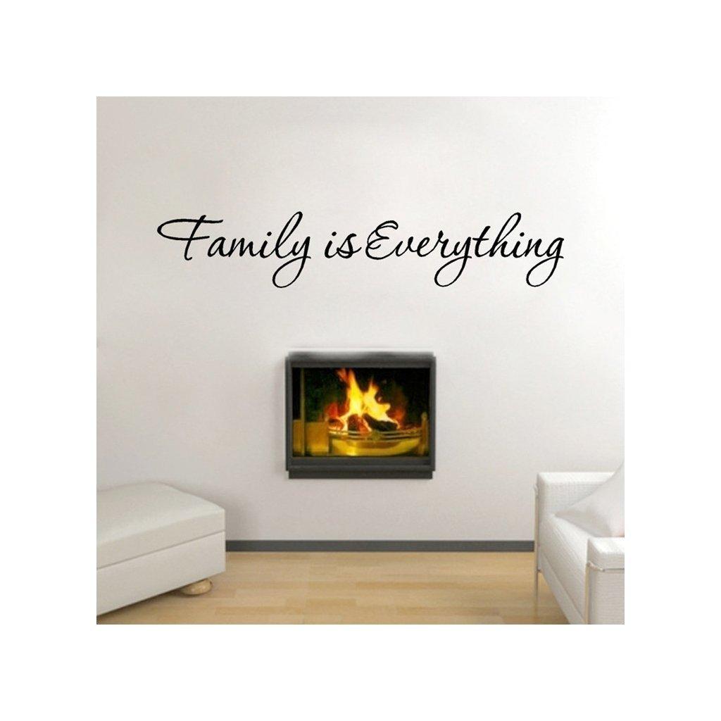 """Autocolant de perete """"Familia este totul"""" 11x60 cm"""