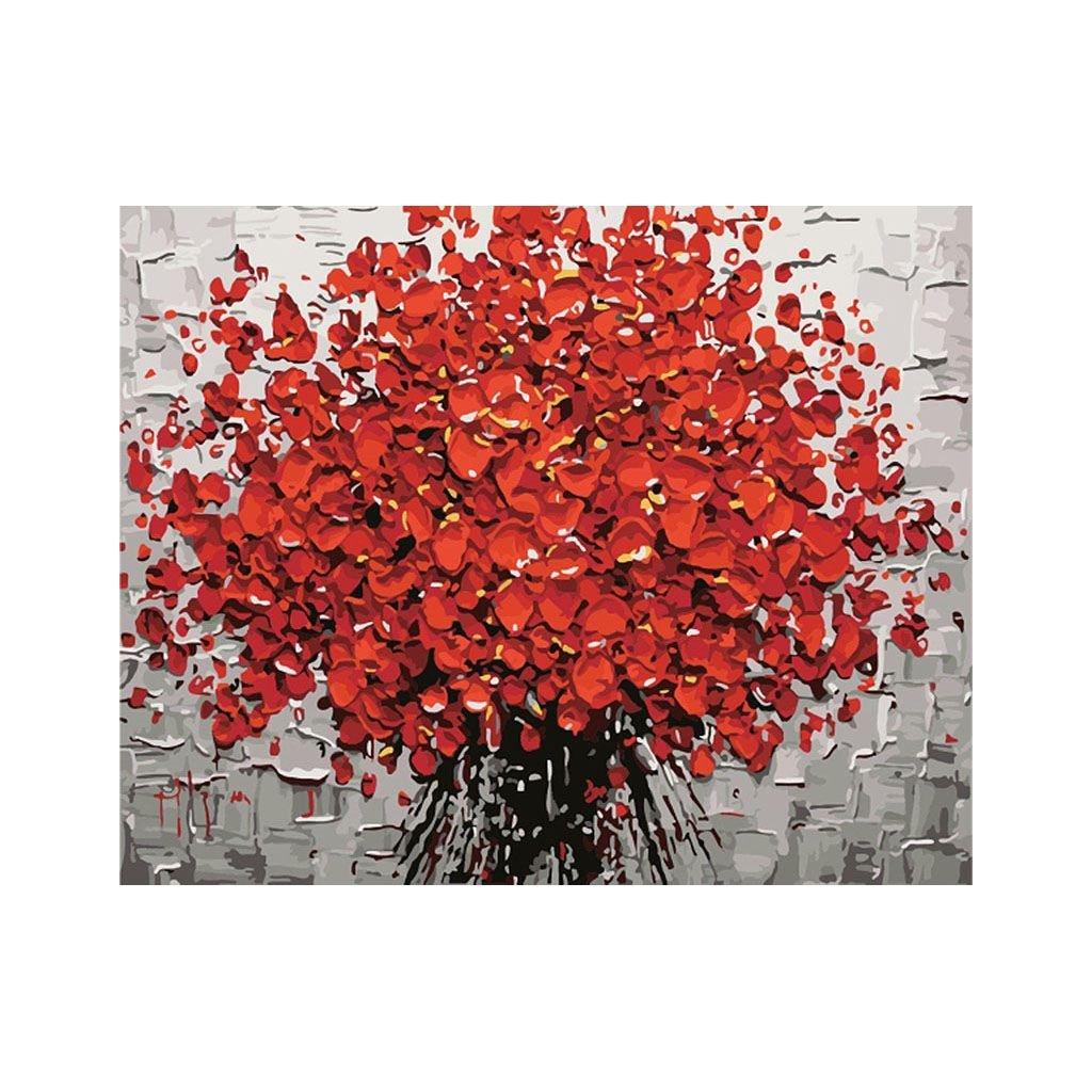 """Pictura pe numere cu un cadru """"Flori 2"""" 50x40 cm"""