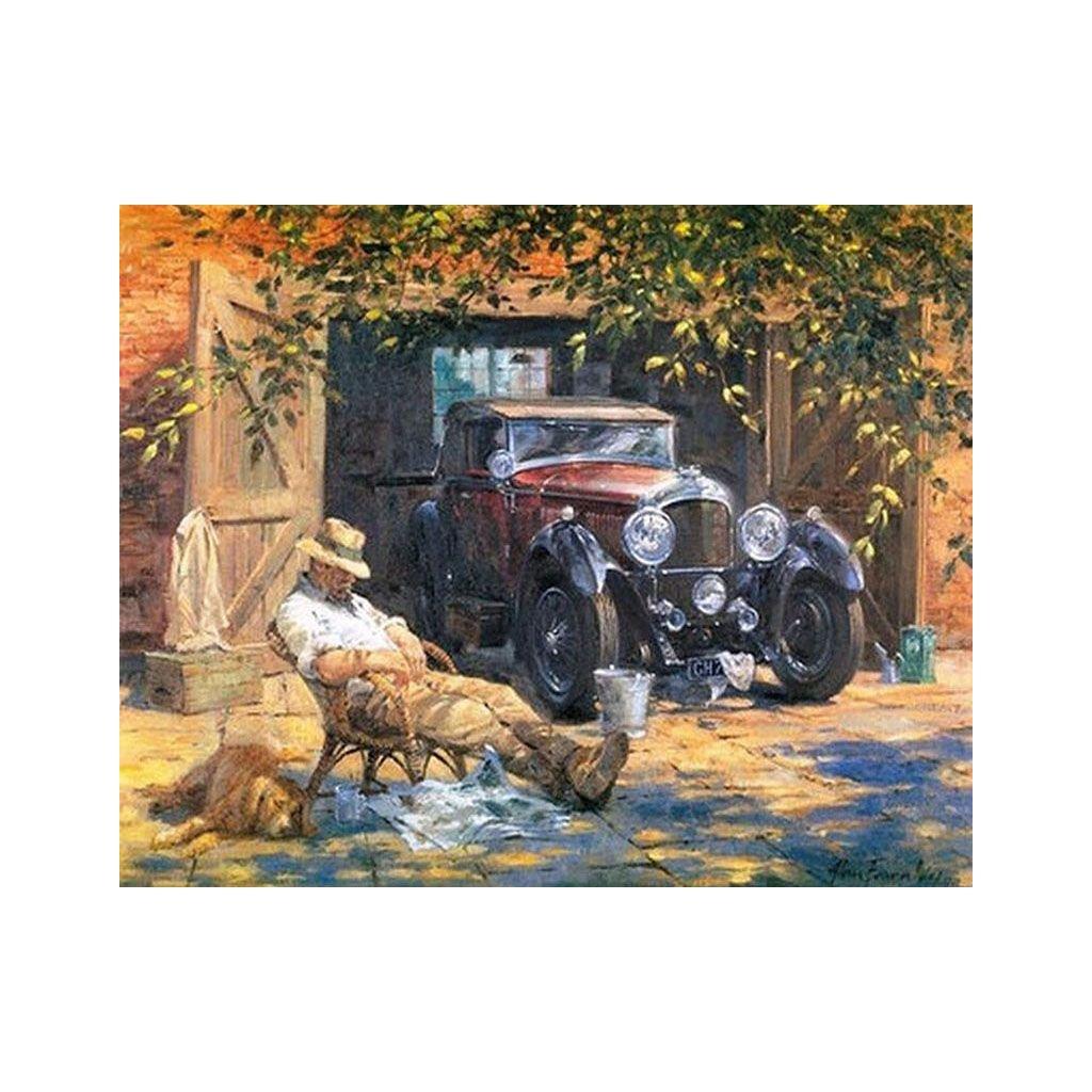 """Pictura pe numere cu un cadru """"Om cu mașină"""" 50x40 cm"""