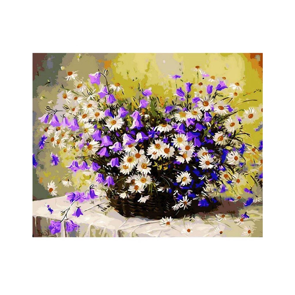 """Pictura pe numere cu un cadru """"Flori"""" 50x40 cm"""