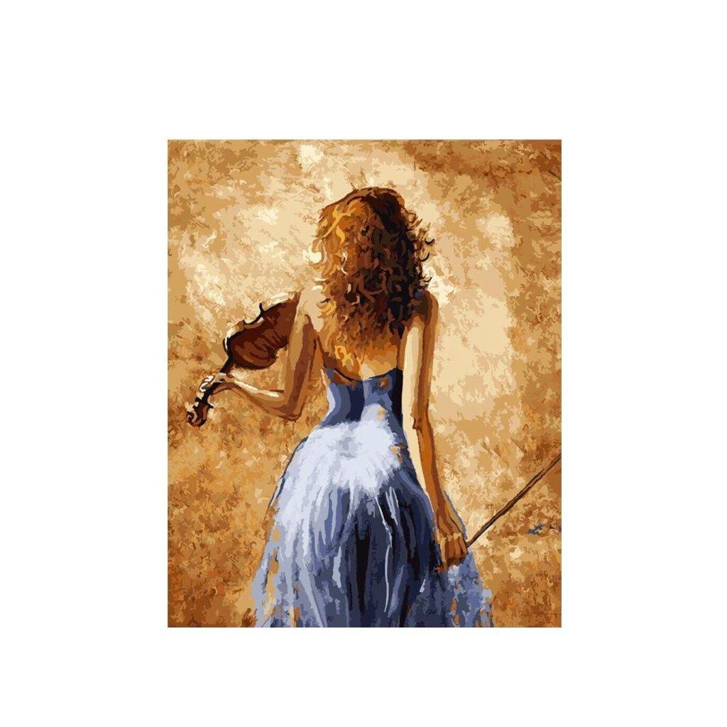 """Pictura pe numere cu un cadru """"Violonist"""" 50x40 cm"""