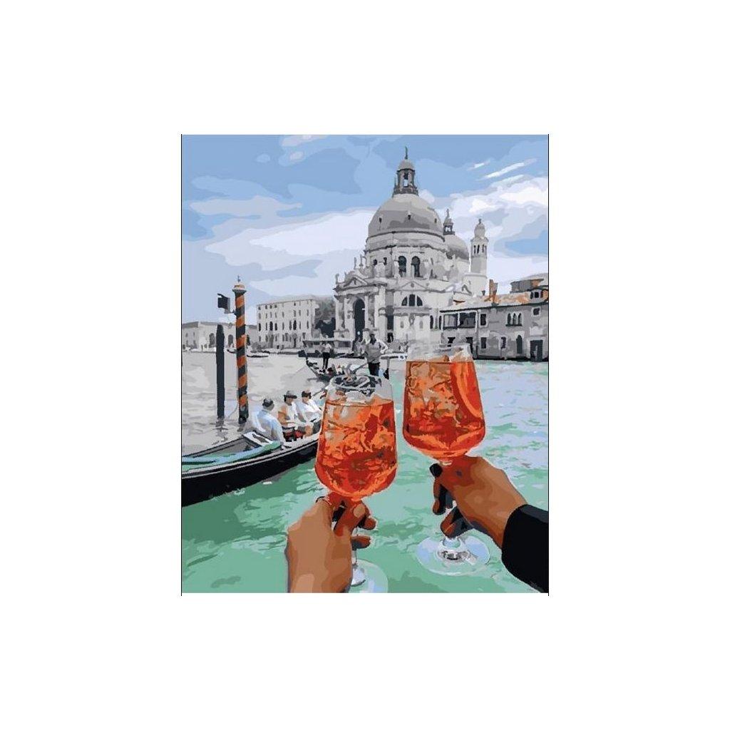 """Pictura pe numere cu un cadru """"Veneția 6"""" 50x40 cm"""