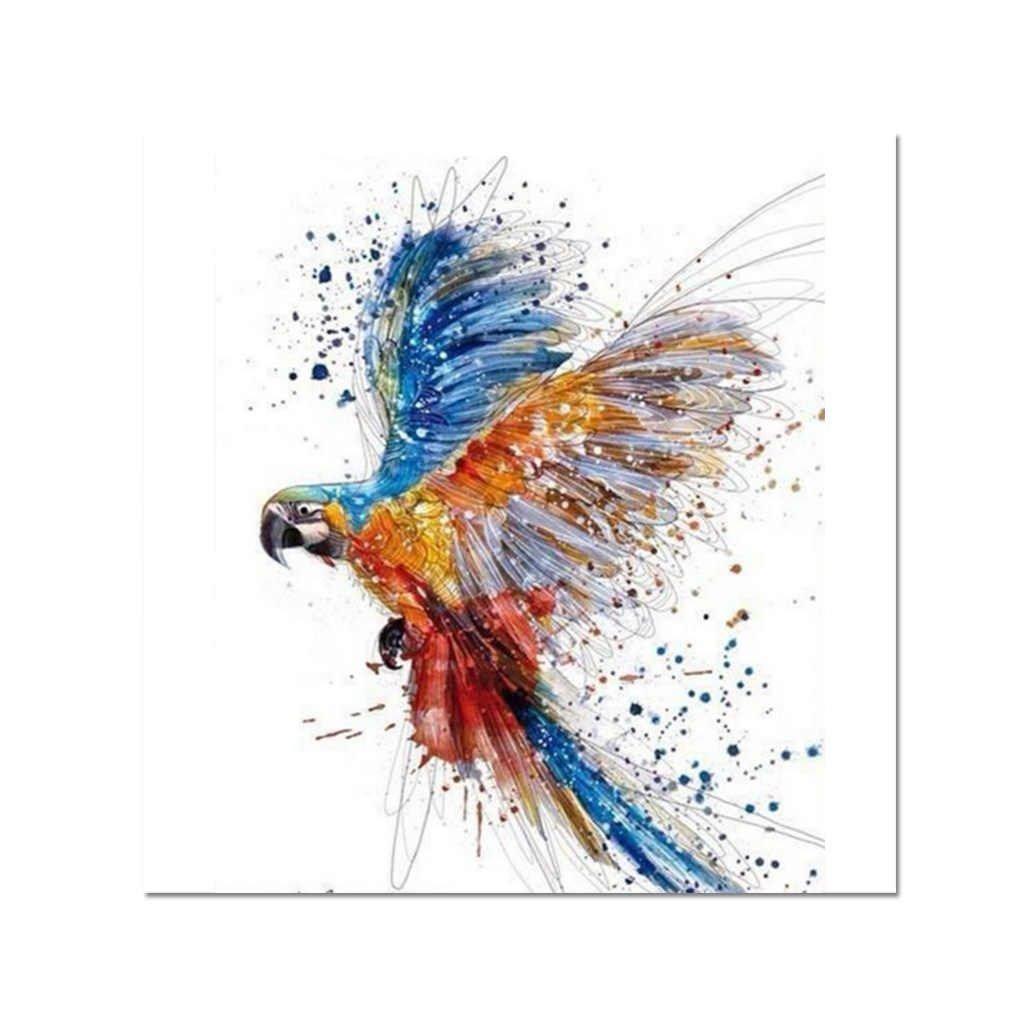 """Pictura pe numere cu un cadru """"Papagal"""" 50x40 cm"""