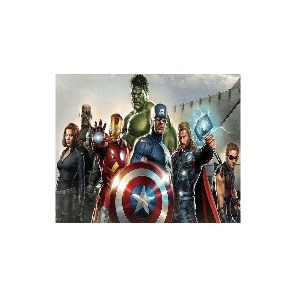 """Pictura pe numere cu un cadru """"Avengers 3"""" 50x40 cm"""