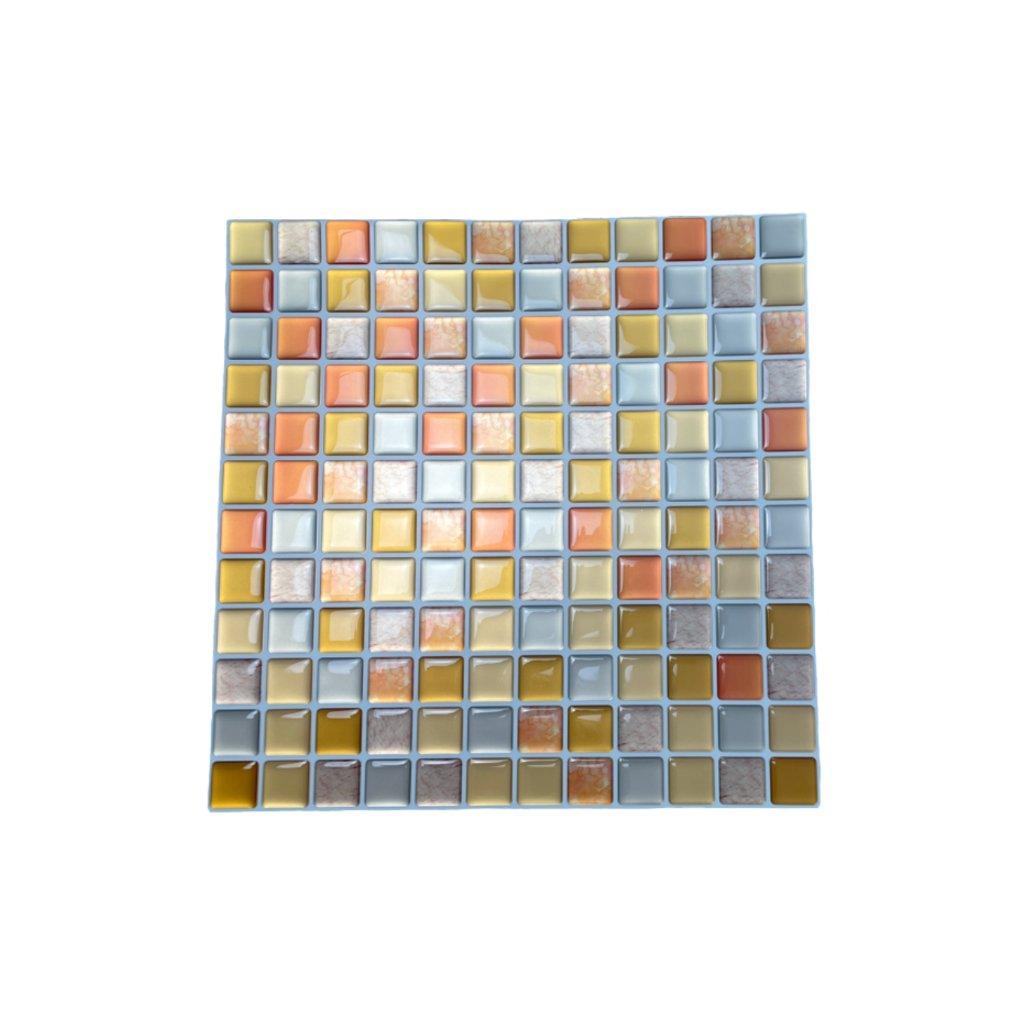 Placi de adeziv - mozaic 3D - Patratele portocalii 23,5 x 23,5 cm