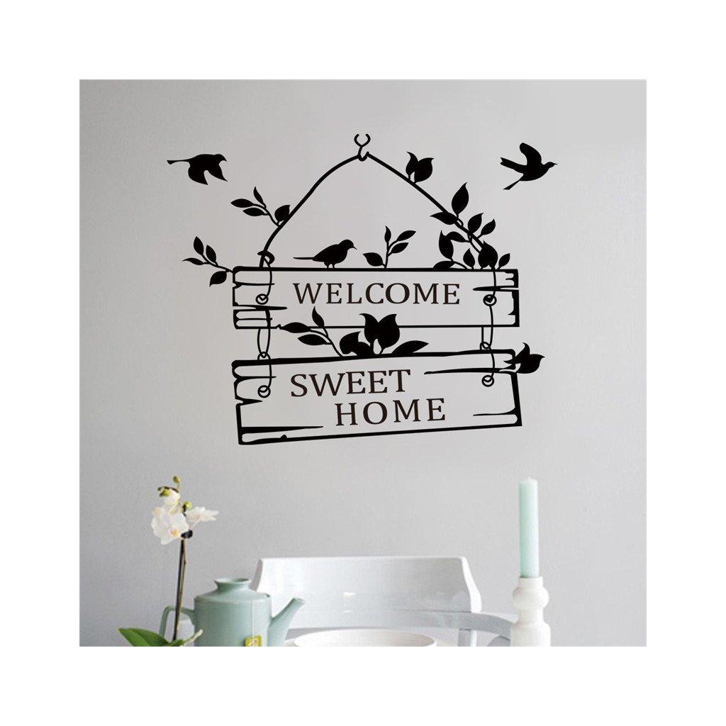 samolepka na stenu samolepiaca tapeta dekoracna nalepka welcome vitajte vinylova tapeta nahlad stylovydomov
