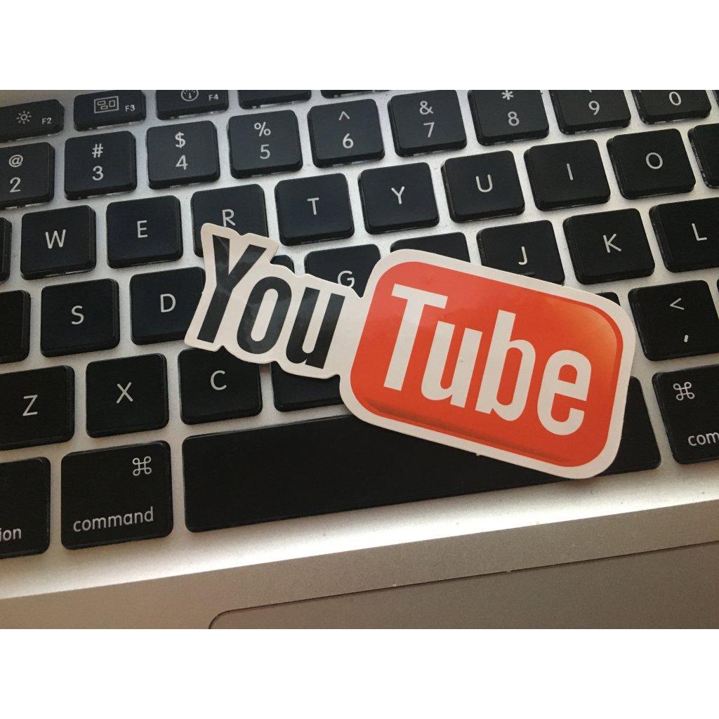 samolepka nalepka logo youtube pre youtuberov nahlad stylovydomov