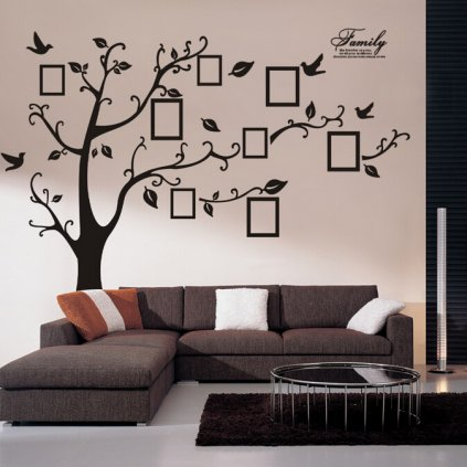 "Autocolant de perete ""Copac cu fotografii - dreapta"" 180x250 cm"