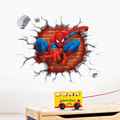detska samolepka na stenu samolepiaca tapeta dekoracna nalepka pre deti spider man spiderman nahlad stylovydomov