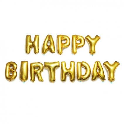 balony happy birthday narodeniny dekoracia na oslavy zlate balony nahlad stylovydomov