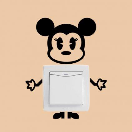 samolepka na vypinac pre deti detska nalepka minnie mouse dekoracia nahlad stylovydomov