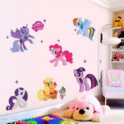 """Autocolant de perete """"My Little Pony"""" 104x59 cm"""