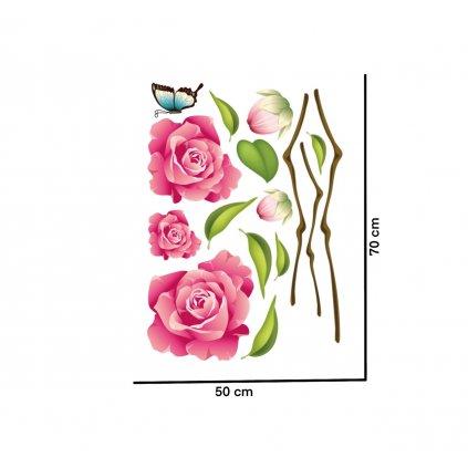 samolepiaca tapeta dekoracna samolepka na stenu nalepka farebna ruze 2 styl interierovy dizajn dekoracia nahlad stylovydomov