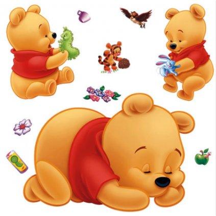 "Autocolant de perete ""Baby ursulețul Winnie Puh"" 53x19 cm"
