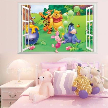detska samolepka na stenu samolepiaca tapeta dekoracna nalepka macko pu 5 nahlad stylovydomov