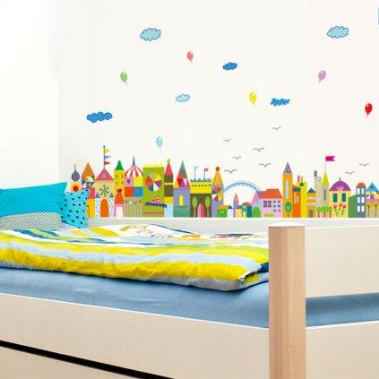 """Autocolant de perete """"Regatul colorat"""" 42x140cm"""
