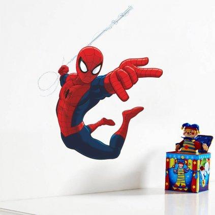 samolepka na stenu spiderman detska nalepka pre deti dekoracia do izby stylovydomov