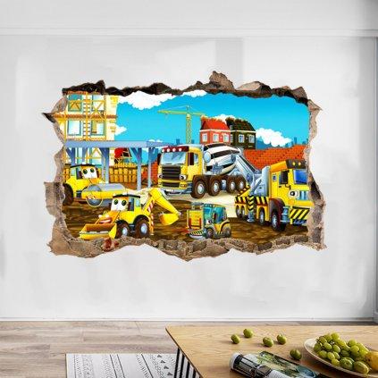 """Autocolant de perete """"Santier"""" 56x85 cm"""