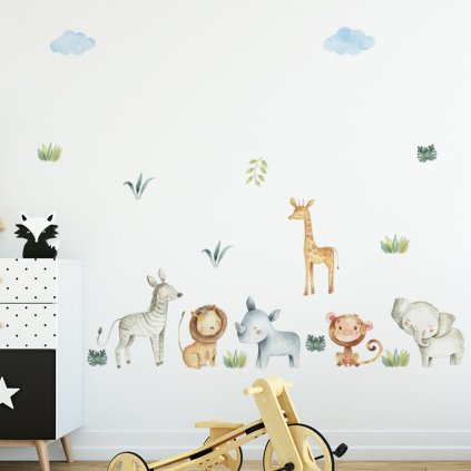 "Autocolant de perete ""Animale exotice 2"" 66x150 cm"
